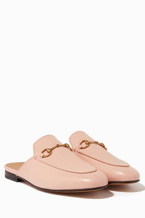 Light-Pink Leather Princetown Loafer