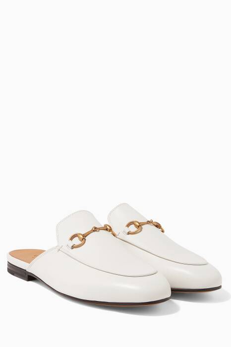 Mystic White Leather Princetown Loafer