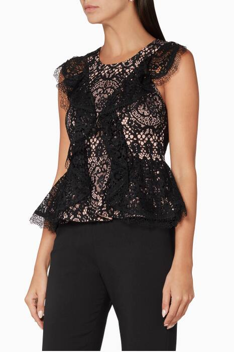 Black Lace Cairo Top
