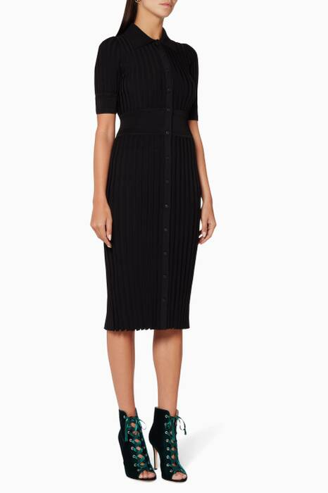 Black Olivia Knitted Dress