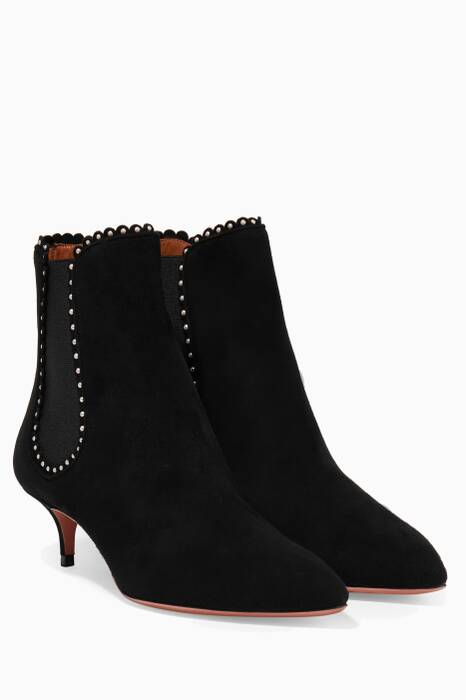 Black Jicky 45 Suede Booties