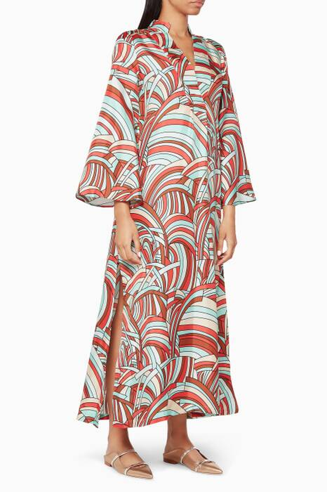 Onde Carello Silk Kaftan