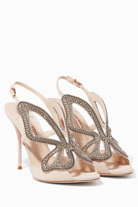 Nude Madame Butterfly Crystal Sandals