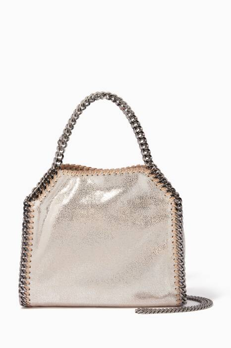 Gold Mini Falabella Dotted Tote Bag