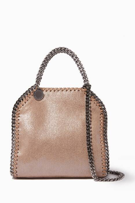 Beige Tiny Chamios Falabella Cross-Body Bag