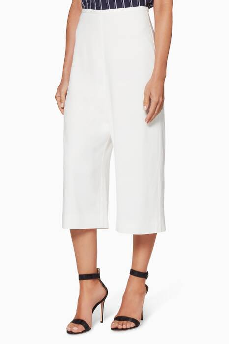 Ivory Cropped Linear Pants