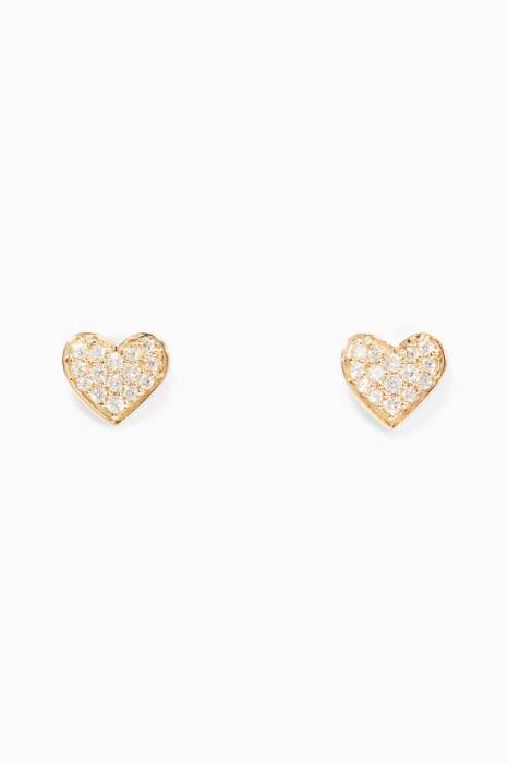 Yellow-Gold Hearts Earrings