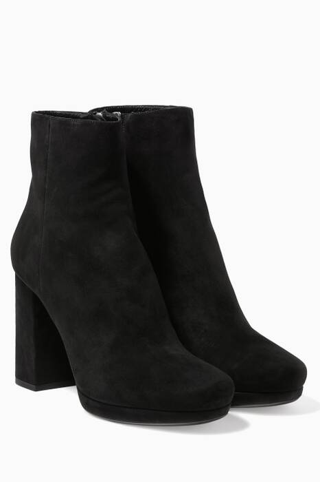 Black Suede Carryover Booties