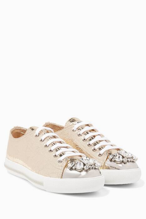 Gold Metallic Sneakers