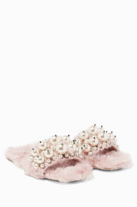 Light-Pink Eco Shearling Sandals
