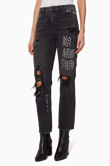Dark-Grey Daze No After Party Jeans
