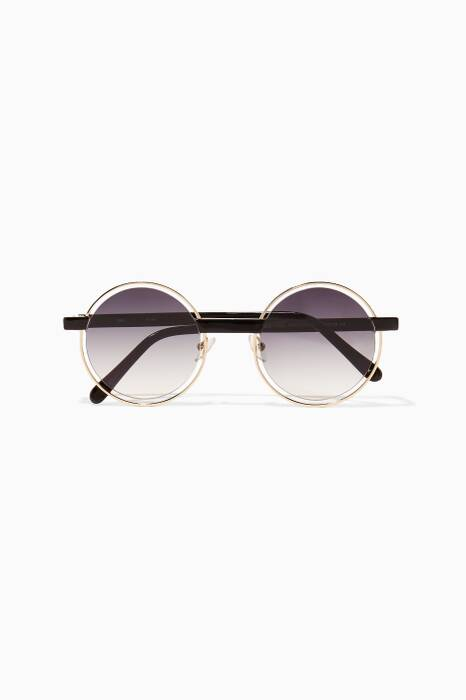 Gold Plume 2 Round-Frame Sunglasses