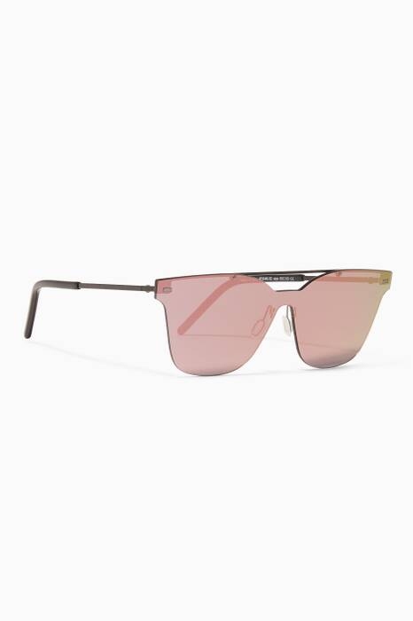 Black Kausama 2 Square-Frame Sunglasses