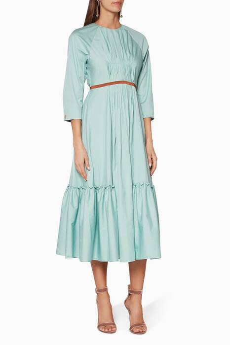 Teal Varena Midi Dress