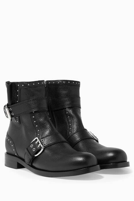 Black Blyss Leather Boots