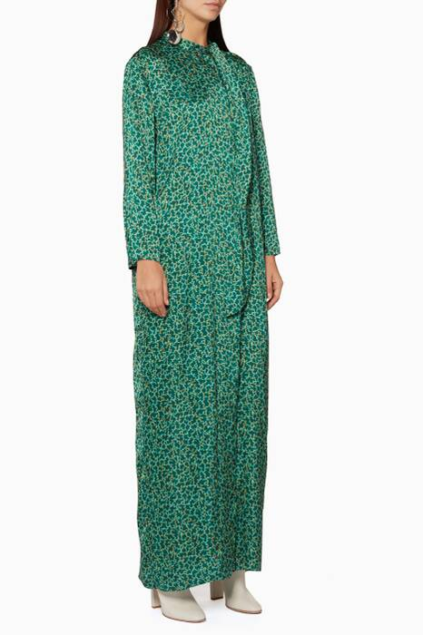 Green Graphic-Print Doree Maxi Dress