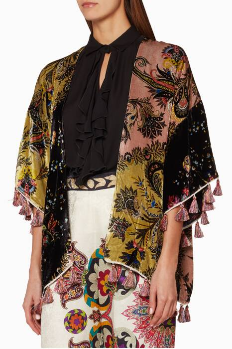 Multi-coloured Kesa Printed Poncho