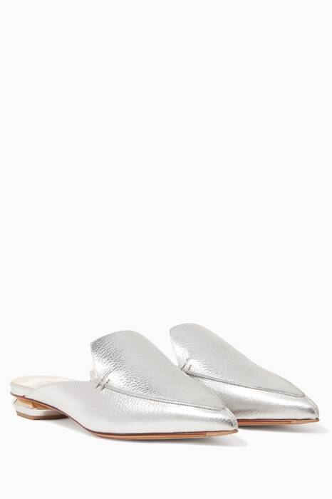 Silver Beya Loafers