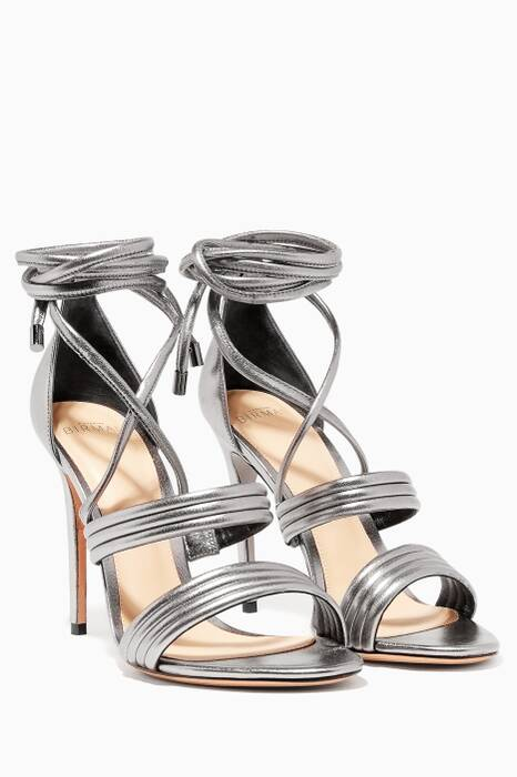Metallic Silver New Isis Leather Sandals