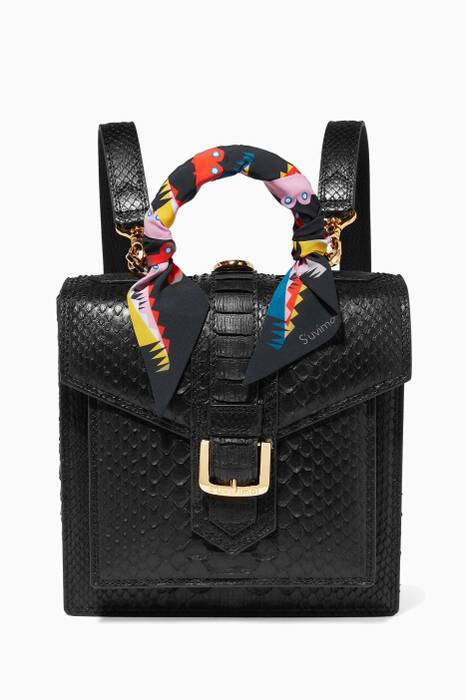 Black Python Small Molly Backpack