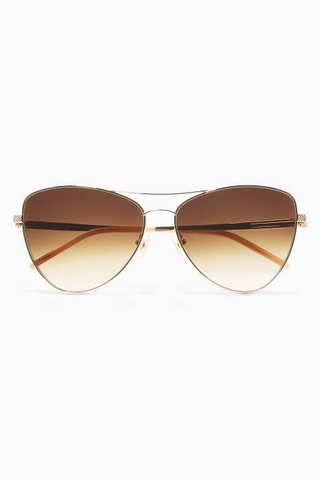 Gold Combustion 8 Metal Aviator Sunglasses
