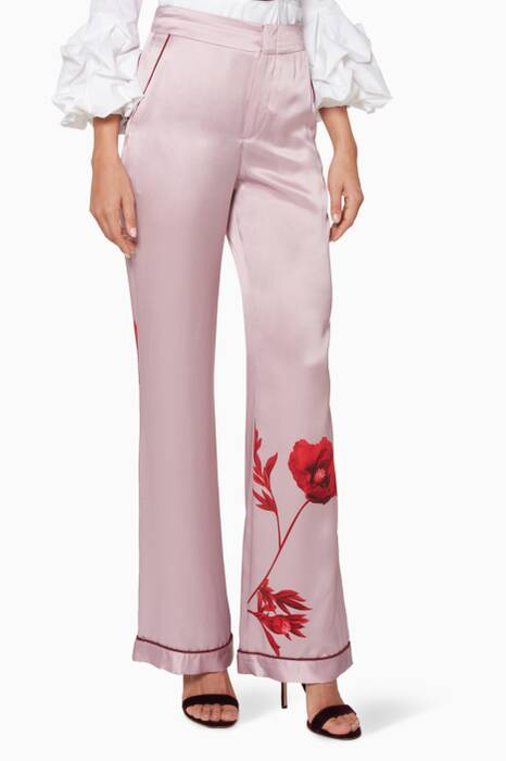 Pastel-Purple Floral Lovari Pants