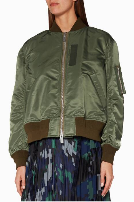 Army-green M-a1 Shell Bomber Jacket