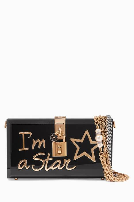 Black I am Star Dolce Box Clutch
