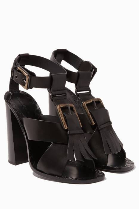 Nero Chunky Criss-Cross Sandals