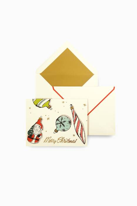 Vintage Ornaments Holiday Card Set
