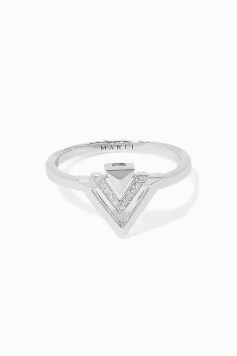 White-Gold Avant Ring