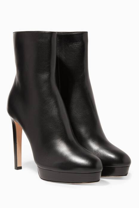 Black Majesty Leather Boots