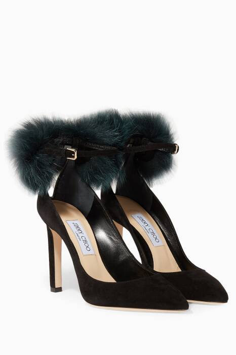 Black South Suede Pumps