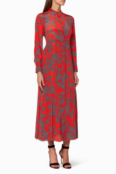 Red Brulon Graphic Print Dress