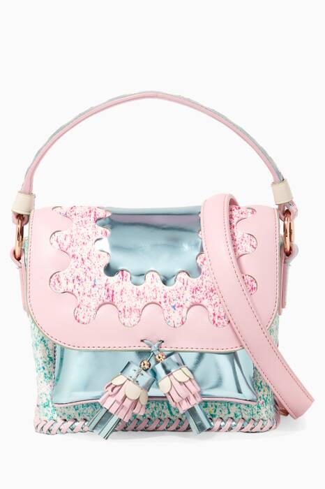 Light-Pink Claudie Wiggle Cross-Body Bag