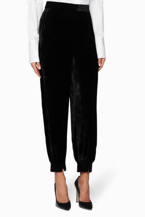 Black Velvet Farah Pants