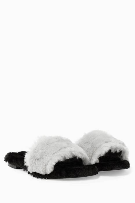 Light-Grey Kitzbuhel Beaver Slippers