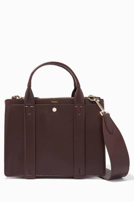 Burgundy Mini West Satchel Cross-Body Bag