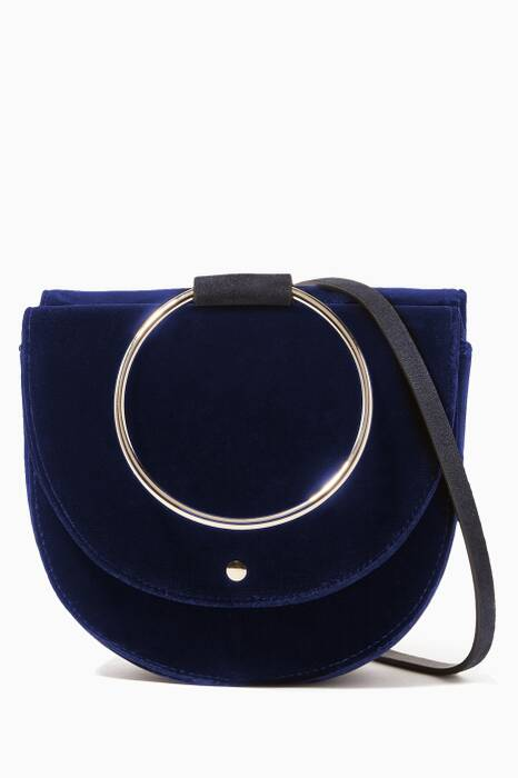 Navy Velvet Whitney 2.0 Saddle Bag