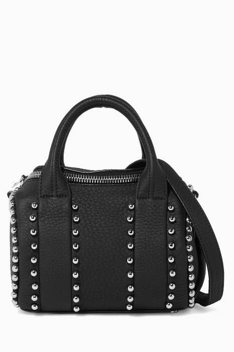Black Mini Rockie Ball Stud Pebble Bag