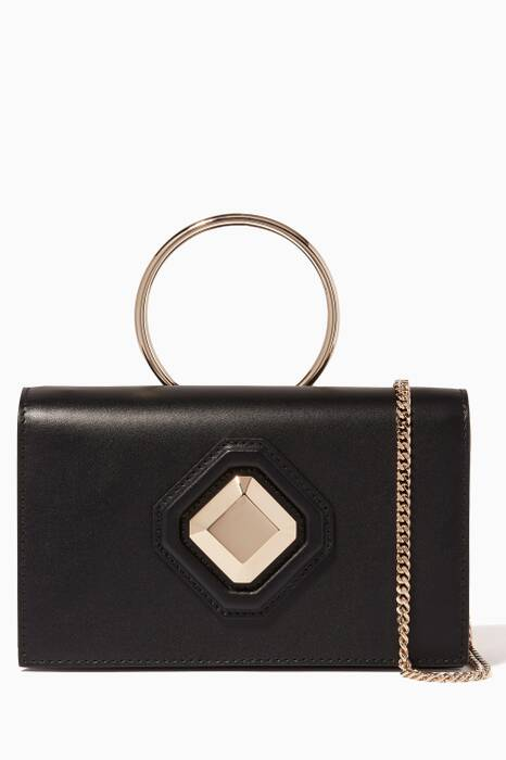 Black Pochette Radiant Clutch