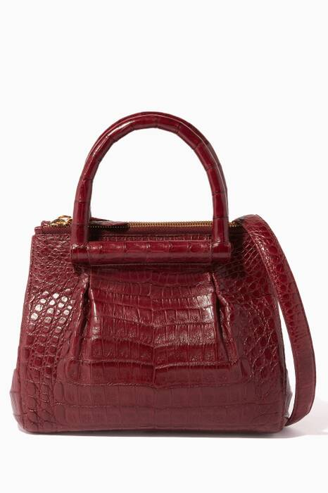 Dark-Red Structured Tote
