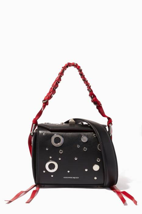 Black Eyelet Box Bag 16