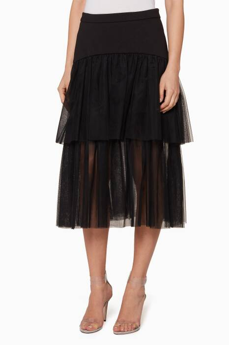 Black Tiered Alessandre Skirt