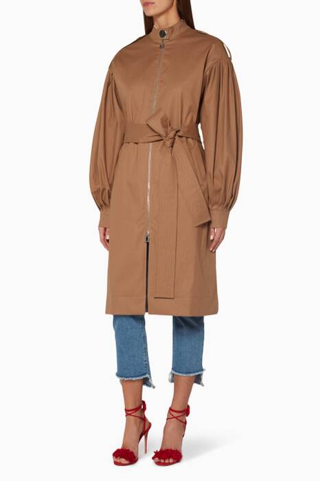 Beige Cotton August Trench Coat
