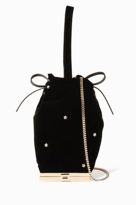 Black Star-Embellished Cigarette Shoulder Bag