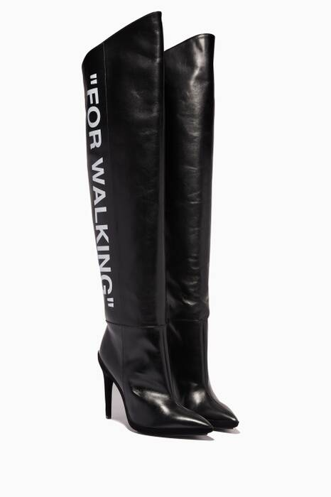 Black For Walking Knee-High Boots