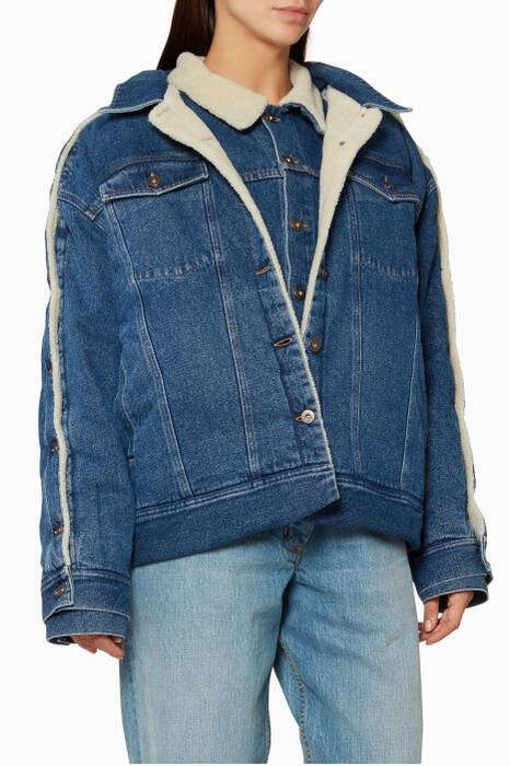 Blue Double-Layer Denim Jacket