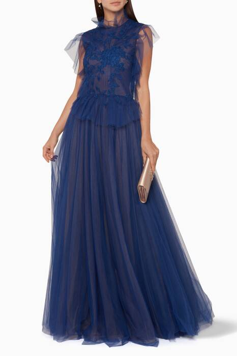 Blue Fairy Long Tulle Dress