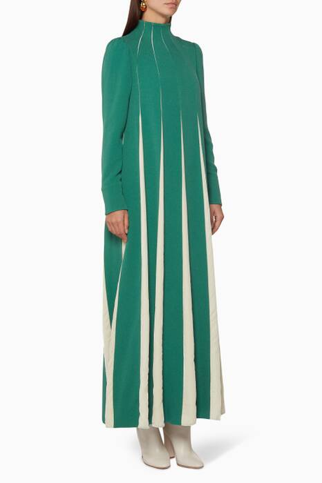 Green High-Neck Dress